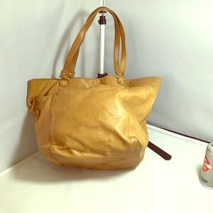 Genuine Liz Claiborne camel colored tote bag